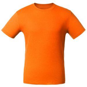 Футболка для нанесения логотипа оранжевая