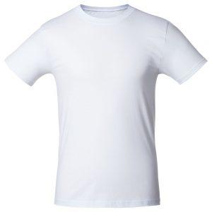Футболка для нанесения логотипа белая