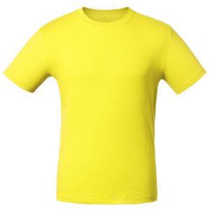 Футболка для нанесения логотипа жёлтая